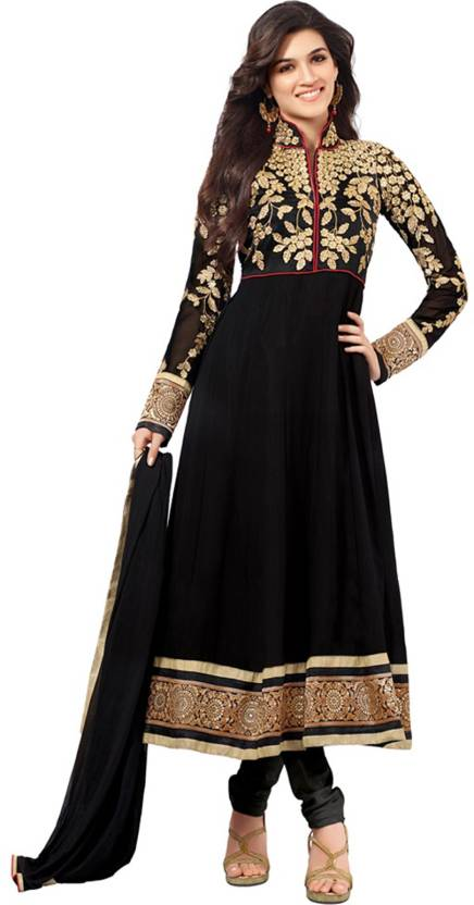 JKV Georgette Embroidered Semi-stitched Salwar Suit Dupatta Material