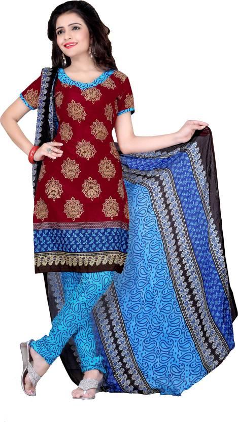 Parisha Crepe Printed Salwar Suit Dupatta Material