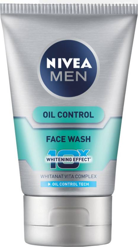 Nivea Men Oil Control 10x Whitening Effect Face Wash ... Nivea Face Wash For Men Oil Control