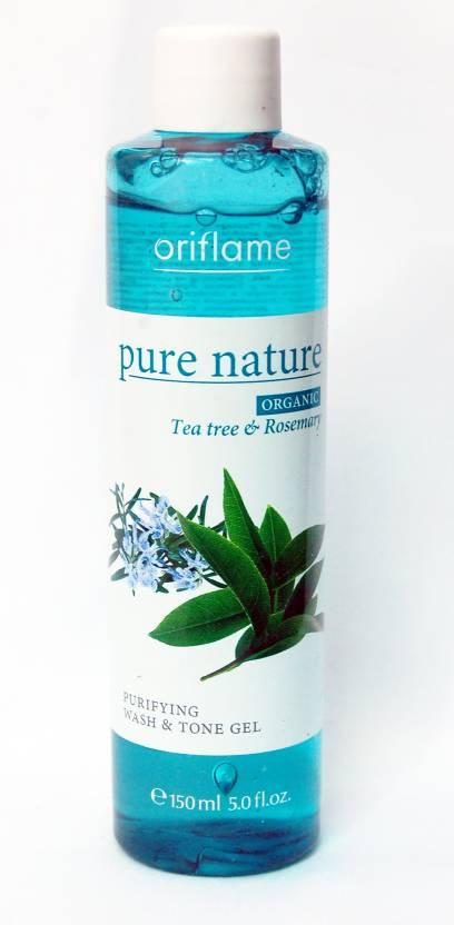 Oriflame Pure Nature Organic Tea Tree & Rosemary Purifying Wash & Tone Gel Face Wash