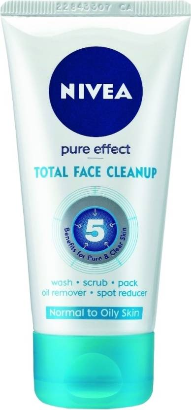 Nivea Pure Effect Total Face Clean Up Face Wash