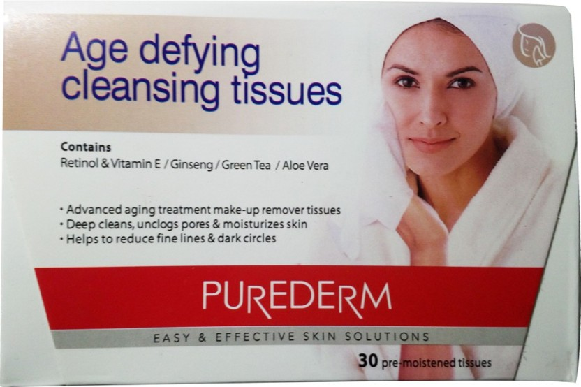 Purederm Age Defying Cleansing Tissues 30 Tissues Estee Lauder - Revitalizing Supreme Light Global Anti-Aging Creme Oil-Free - 30ml/1oz