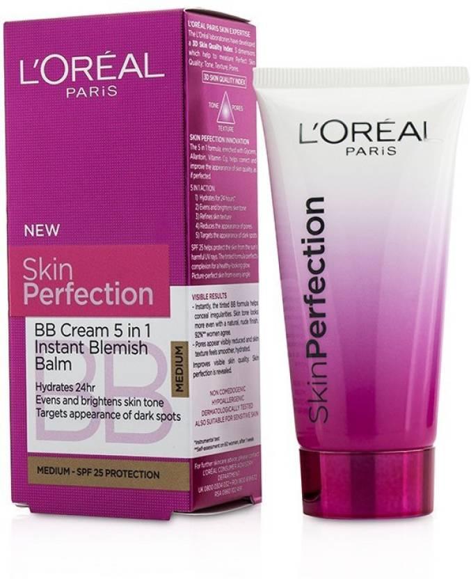 Loreal Paris Skin Perfection Bb Cream 5 In 1 Instant Blemish Balm