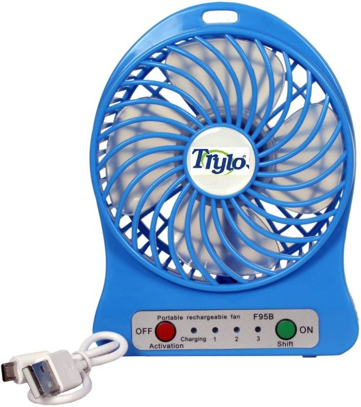 Trylo RECHARGEABLE 4 Blade Table Fan