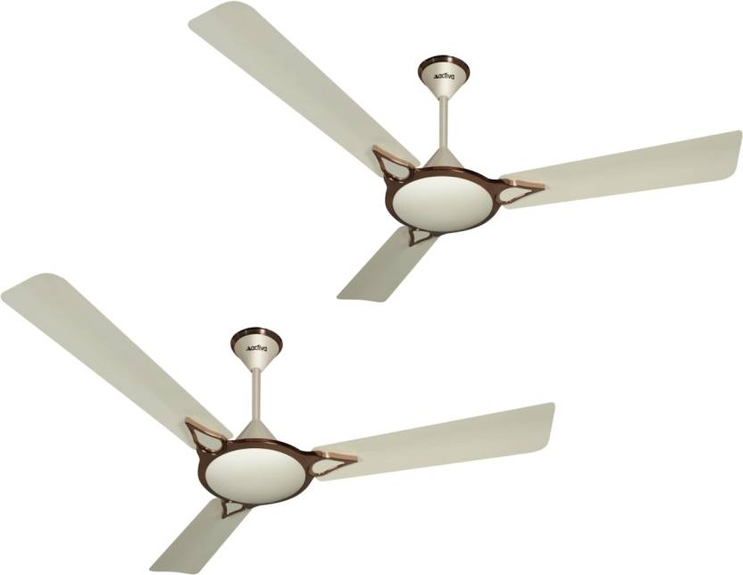 Keep It Cool!! Upto 30% Off On Fans & Air Coolers By Flipkart | ACTIVA WINDSOR 5 STAR BRONZE IVORY PACK OF TWO 3 Blade Ceiling Fan  (BRONZE IVORY) @ Rs.3,549