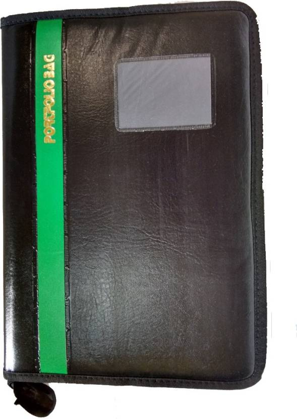6012cdb7d96 Aahum Sales Faux Leather Portfolio Document File Folder With Green Bold  Line (Set Of 1