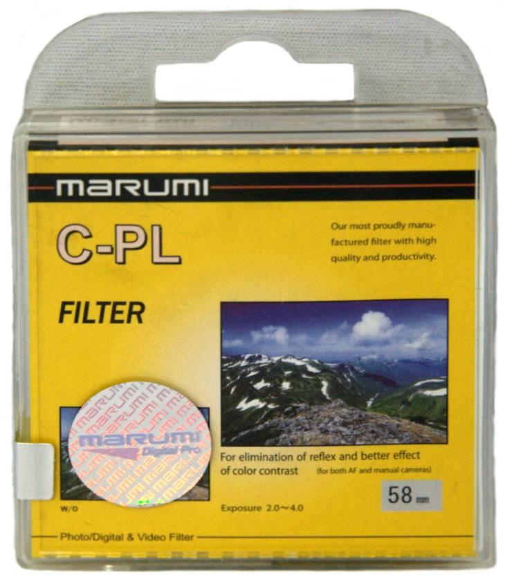 Marumi 58 mm Circular Polarizer Polarizing Filter (CPL)