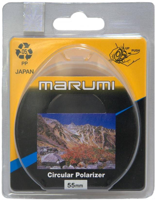 Marumi 55 mm Circular Polarizer Polarizing Filter (CPL)