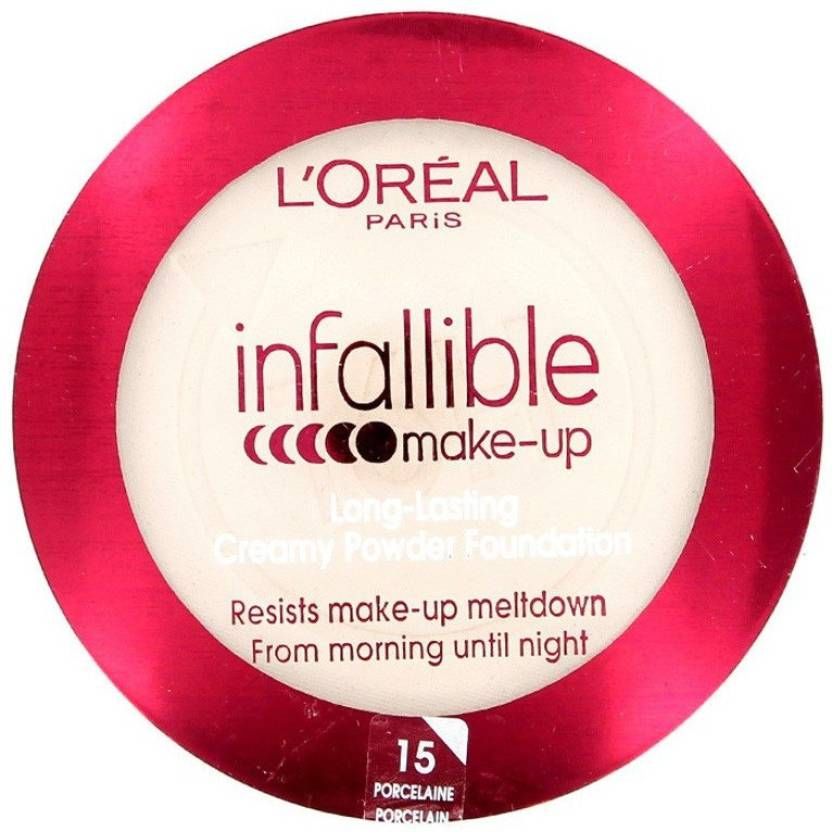 L'Oreal Paris Infallible Long-Lasting Creamy Powder Compact (Porcelaine)