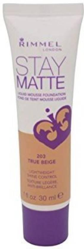 Rimmel Stay Matte Liquid Mousse Foundation - 203 True Beige