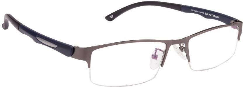 58bbaa6bb7 Vincent Chase Half Rim Rectangle Frame Price in India - Buy Vincent ...