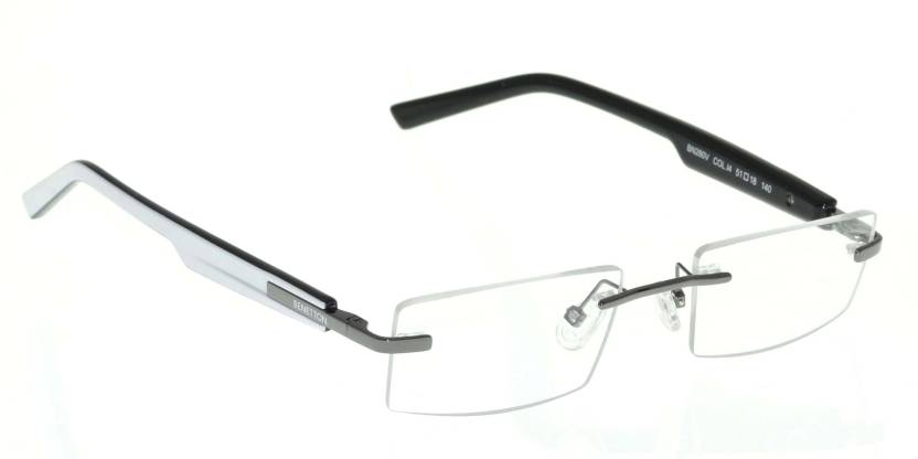 United Colors of Benetton Rimless Rectangle Frame Price in India ...