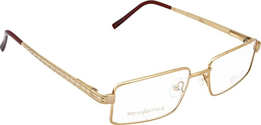 450e5e2a67d Rajani Gold Full Rim Rectangle Frame Price in India - Buy Rajani ...