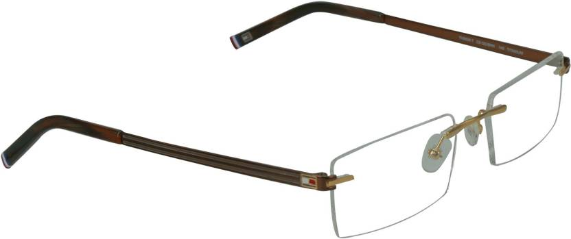 Tommy Hilfiger Rimless Rectangle Frame Price in India - Buy Tommy ...