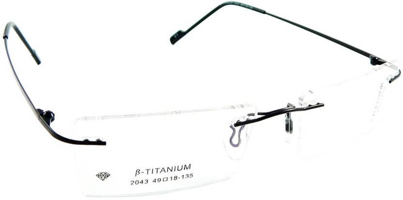 1f3618be903 B-Titanium Rimless Rectangle Frame Price in India - Buy B-Titanium ...