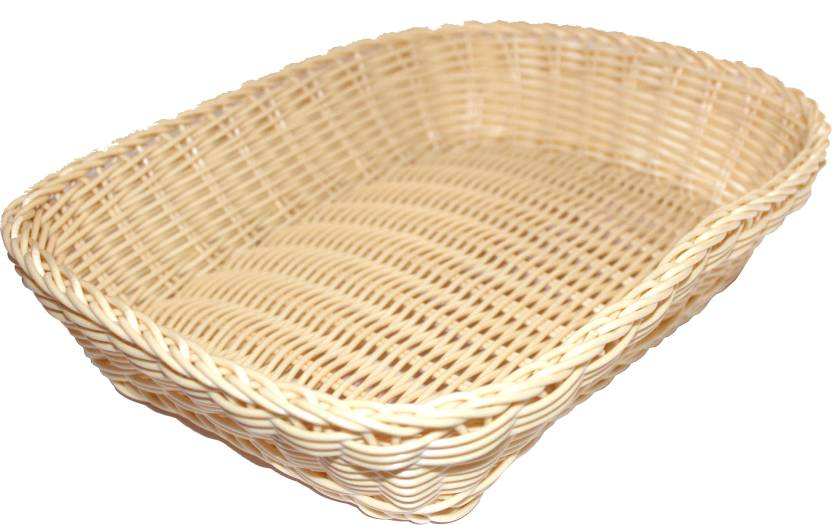 4c4df5c7 Scrazy Handcrafted Multipurpose Cane Plastic Fruit & Vegetable Basket  (Beige)