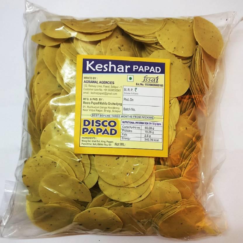 Keshar Papad Premium Disco Papad 1 kg Price in India - Buy