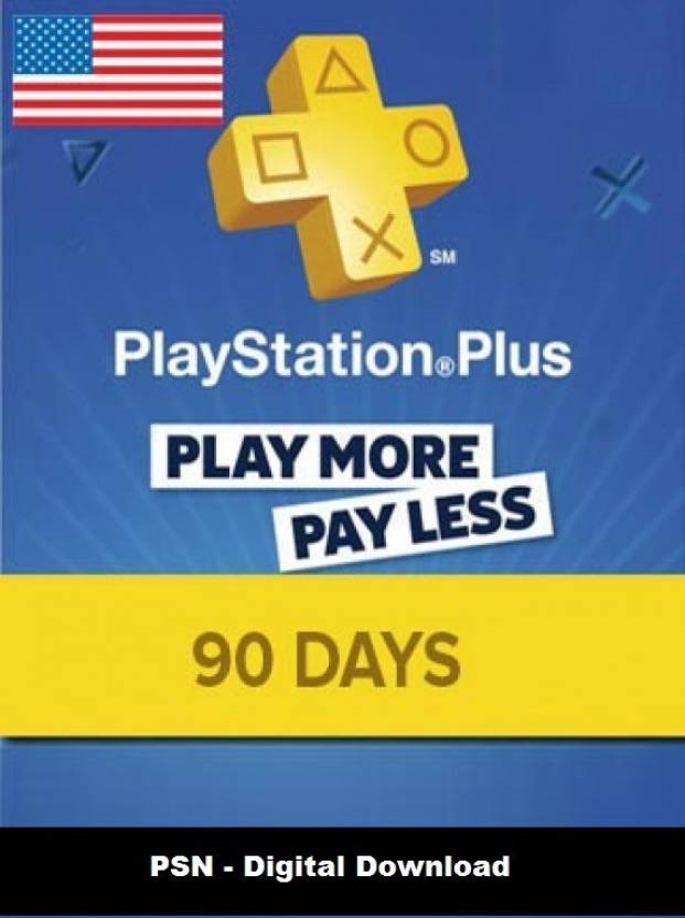 Playstation Plus 90 Days PSN CARD US for PC