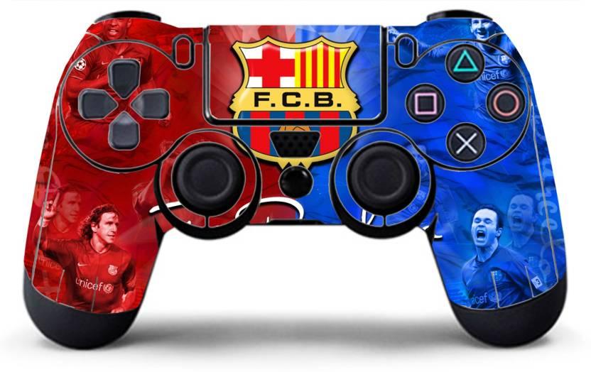 94524af28c54 NEHAL KHATRI PS4 controller skin ( sticker ) of FC BARCELONA. Gaming  Accessory Kit (Multicolor