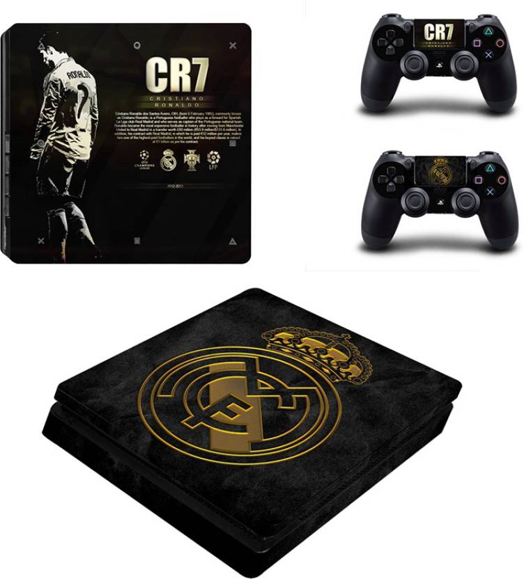 Al Pacino Read Madrid CR7 Theme cover sticker for Ps4 SLIM MODEL Gaming  Accessory Kit