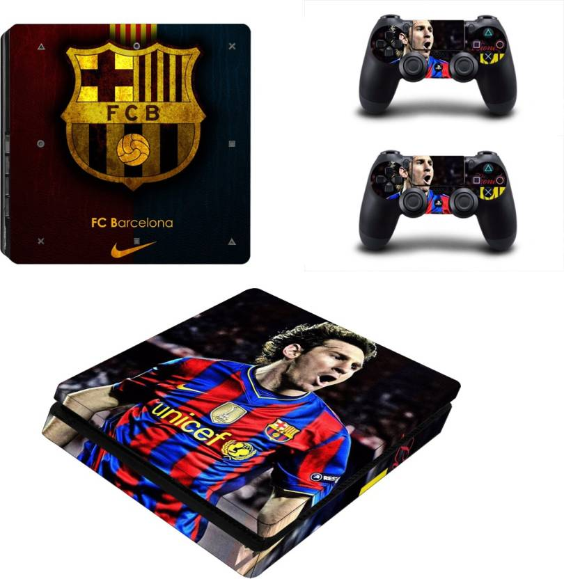 Fc Barcelona Stickers.Hytech Plus Fc Barcelona Messi Edition Theme Sticker For Ps4