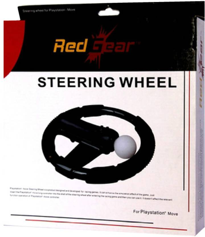 Red Gear Steering Wheel for PS3 Move
