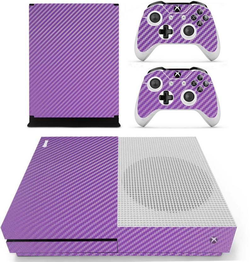 hytech plus purple carbon fiber theme sticker for xbox one s console