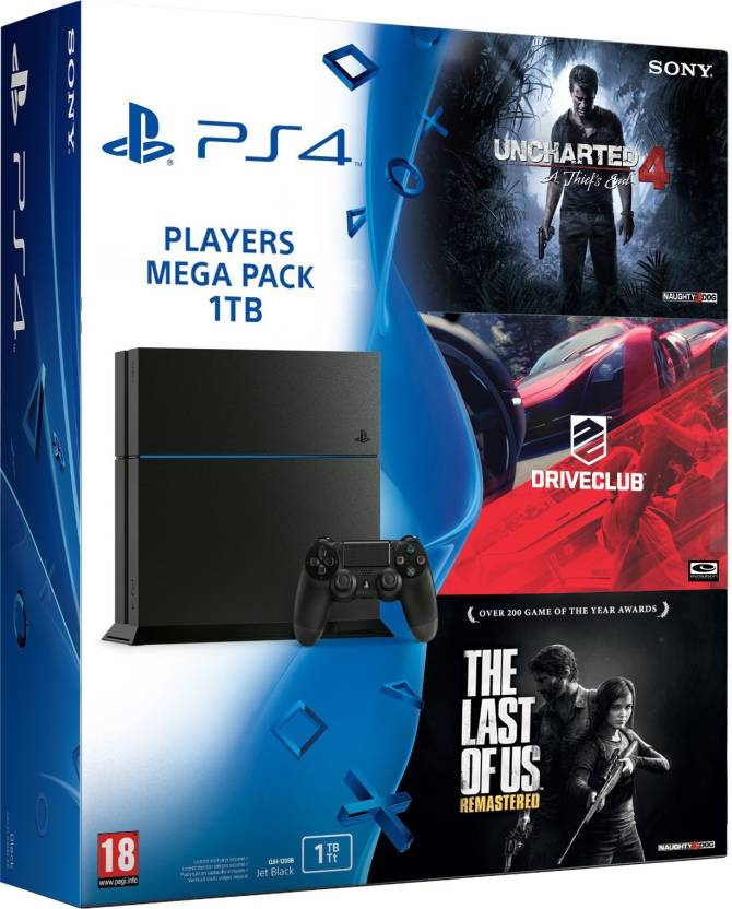 Sony PlayStation 4 PS4 1 TB With Uncharted The Last Of Us