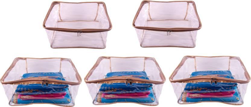 favism designer 9 inch height full transparent big saree