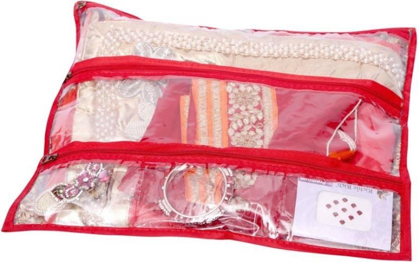 Kuber Industries Saree Bag Red
