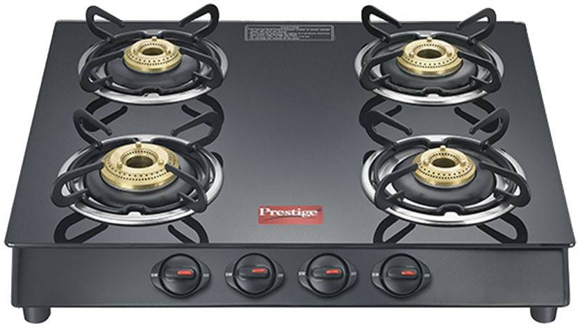 Prestige Marvel Plus Glass, Stainless Steel Manual Gas Stove