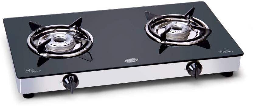 GLEN Glass Cooktop Stainless Steel Manual Gas Stove