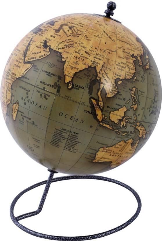 Globeskart Designer Olive Desk And Table Top Political World Globe