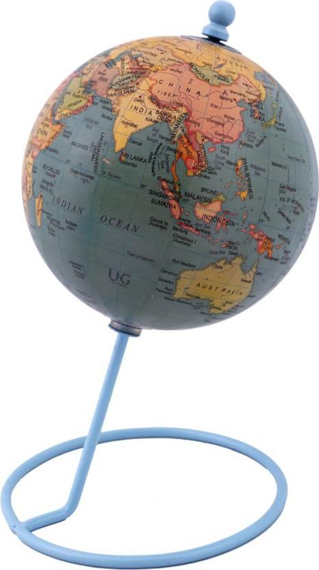 Globeskart Designer Antique Green Desk And Table Top Political World