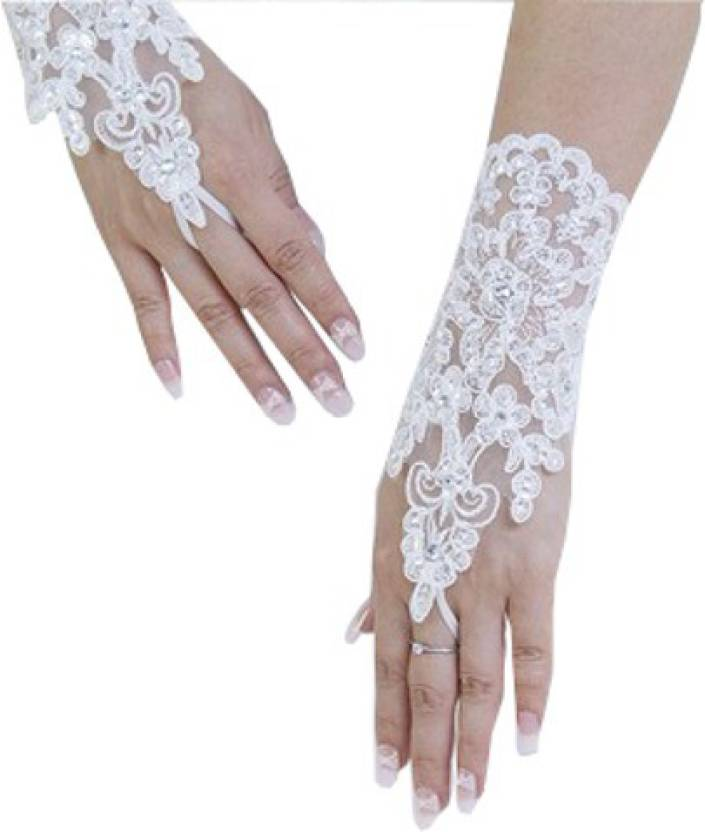 0f9846589c339 Modo Vivendi Solid Evening Women s Gloves - Buy White Modo Vivendi Solid  Evening Women s Gloves Online at Best Prices in India