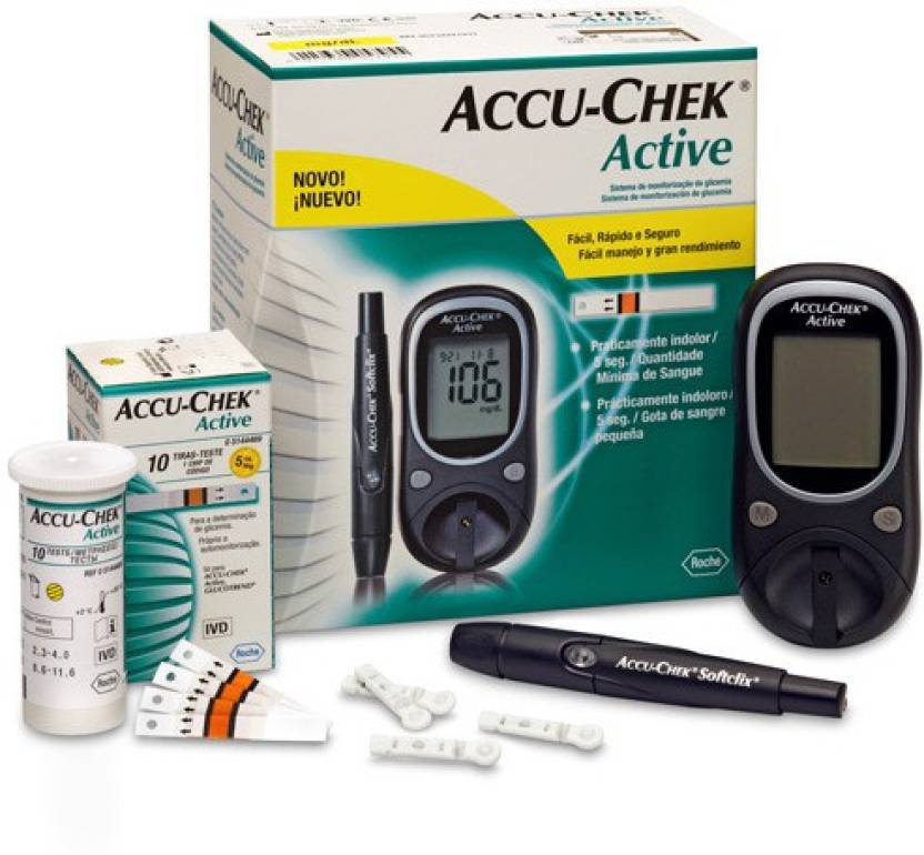 Accu-Check Active Glucose Monitor with 10 Strips Glucometer
