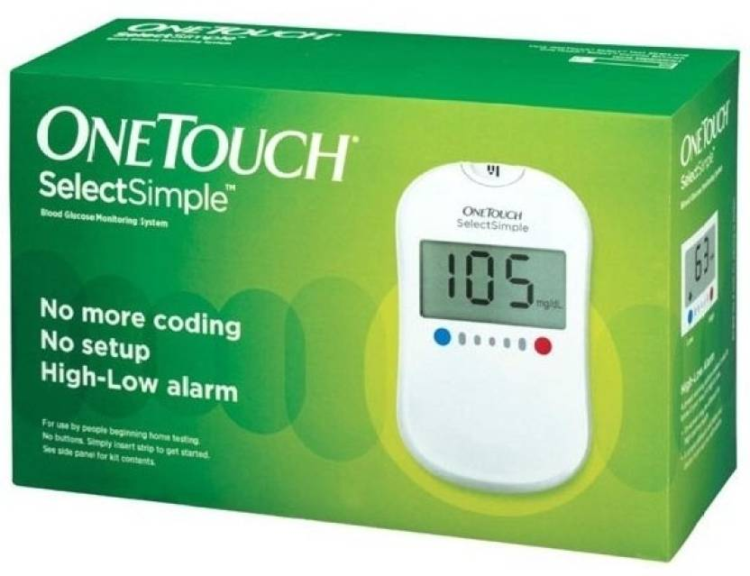 Johnson & Johnson One Touch Select Glucose Monitor with 10 Strips Glucometer