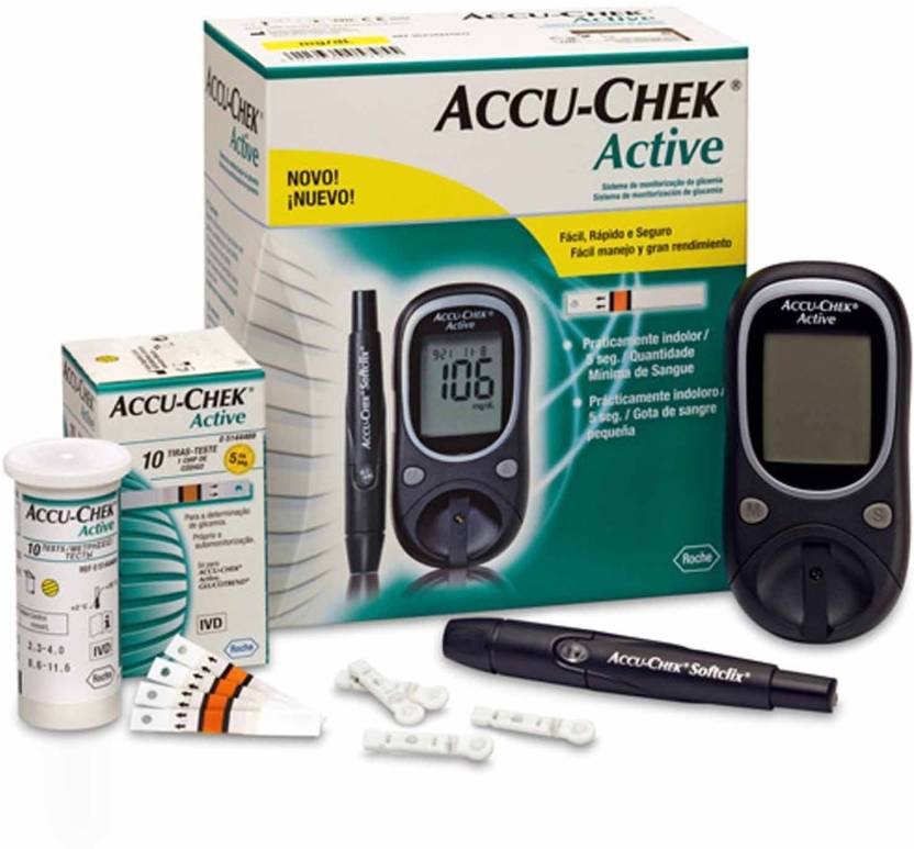 ACCU-CHECK Active Glucose Monitor with 25 Strips Glucometer