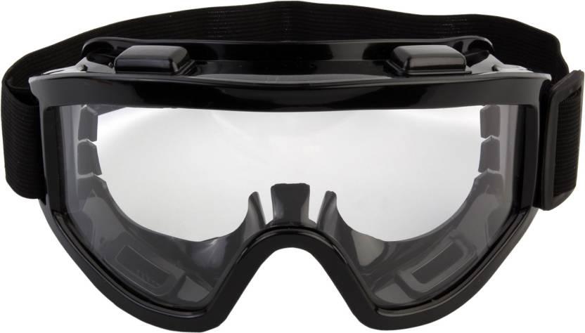 20597809fac 7Trees Adult Motorbike Motocross ATV   Dirt Bike Racing with Adjustable  Strap- Motorcycle Goggles (Black)