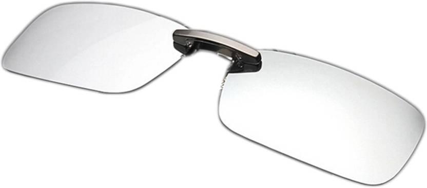 ad8a04da424 Enem Day Vision Polarized Silver Mirror Aviator Clip-on Metal Clip Flip-up  Driving