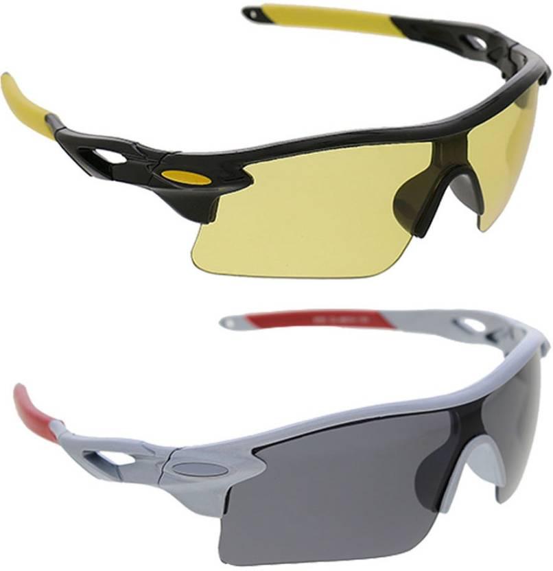 08b16ba2dea Vast Combo Of Day   Night Vision Wrap Around Cricket Goggles - Buy ...