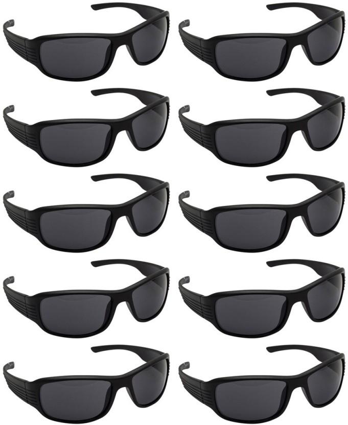 Motorbike Driving Plastic Rimmed Protective Goggles Glasses Black for Man TDR