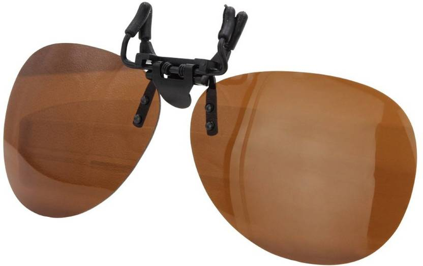 7a4d852829b Enem Day Vision Polarized Brown Aviator Clip-on Flip-up Driving Motorcycle  Goggles (Brown)