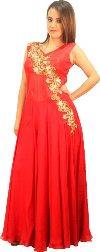 7f3853122d V Da Couture Indo-Western Gown Price in India - Buy V Da Couture ...