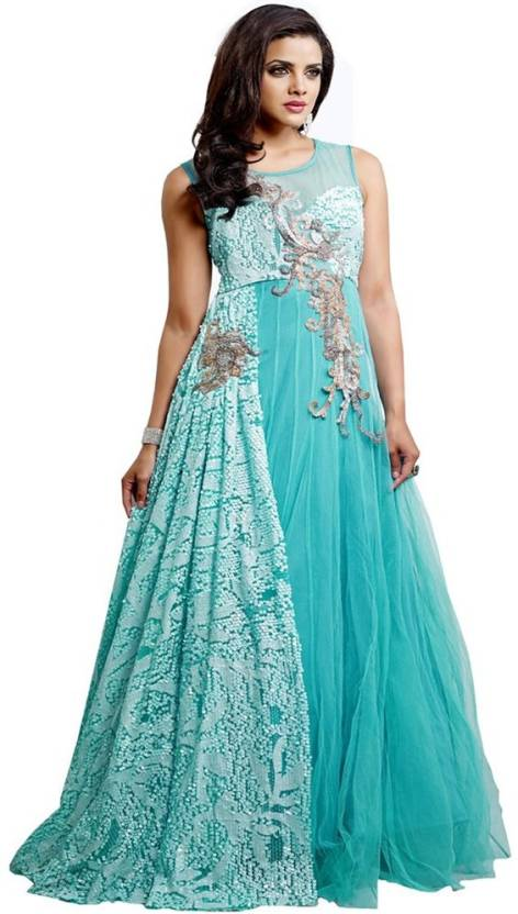 3ddd21d3789 ABIDA Exclusive Semi Stitched Gorgeous Party Wear Net Gown Price in ...