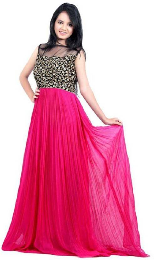 Yanatextile Straight Gown Price In India Buy Yanatextile Straight