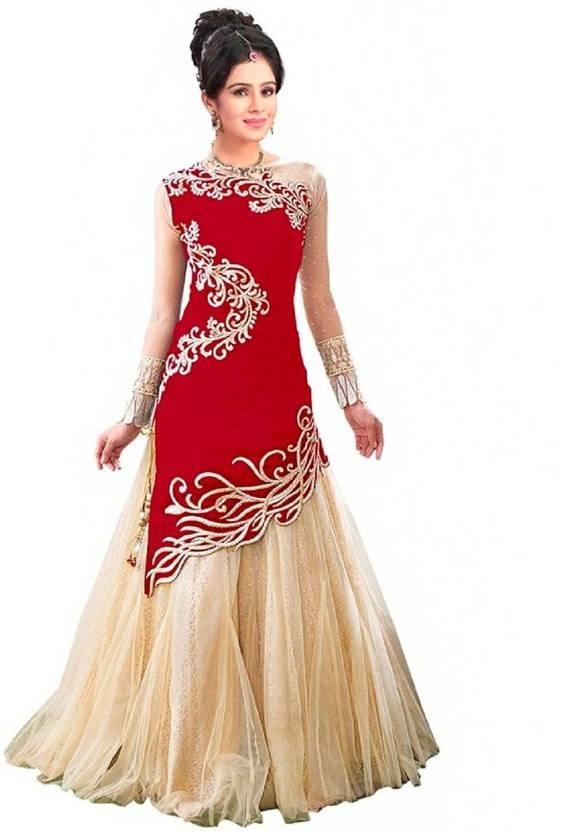 Rudra Fashion Anarkali Gown Price in India - Buy Rudra Fashion ...