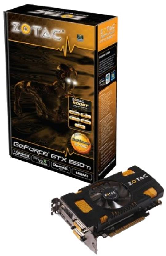 Zotac NVIDIA Geforce GTX 550 Ti 1 GB GDDR5 Graphics Card