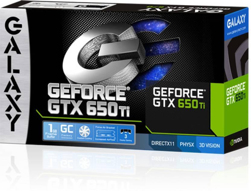Galaxy NVIDIA GeForce GTX 650TI 1 GB DDR5 Graphics Card