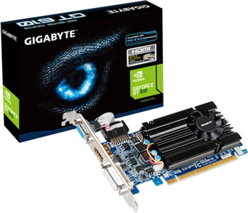 Gigabyte NVIDIA GV-N610D3-2GI 1.0 2 GB DDR3 Graphics Card